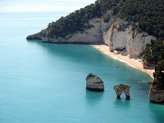 Baia delle Zagare. Spiaggia del Gargano